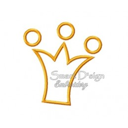 Crown Applique 4.75 x 4.75 inch