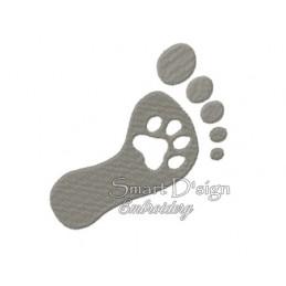 Paw Foot Print 4 Sizes 4x4 & 5x7 inch