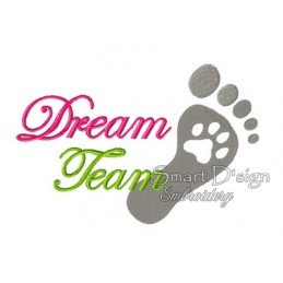 Foot Paw Print Dream Team 5x7 inch