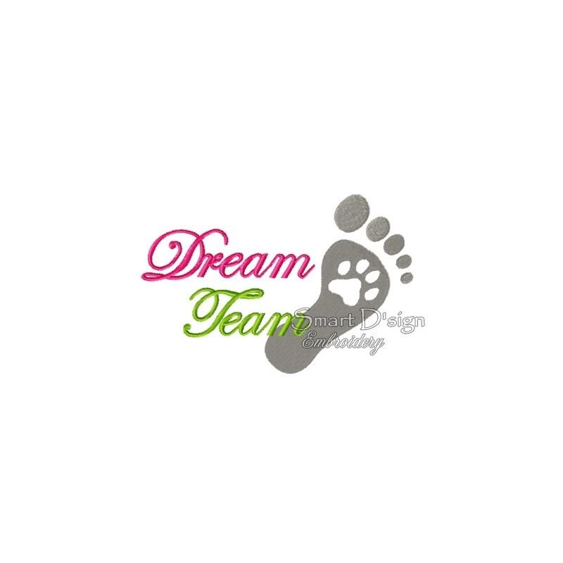 Foot Paw Print Dream Team 5x7 inch