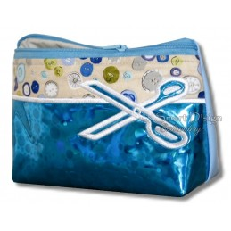 ITH SCISSORS Silhouette Cosmetic Bag w. Inside Pockets 3 Sizes