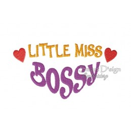 Little Miss Bossy 5x7 inch