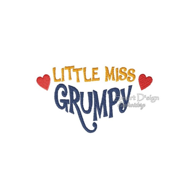 Little Miss Grumpy 5x7 inch