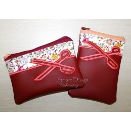 ITH 2x SCISSORS Silhouette Zipper Bag 5x7 inch