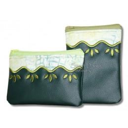 ITH 2x WELLE Silhouette RV-Tasche mit Futter 13x18 cm
