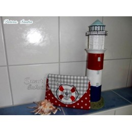 """ITH LITTLE SAILOR Cosmetic Bag w. Back Pocket 5.5x7.9"""""""