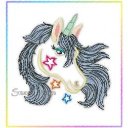 Einhorn Unicorn Füllstich 13x18 cm