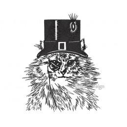 Steampunk Cat 5x7 inch