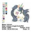Unicorn Filled Stitch 5x7 inch