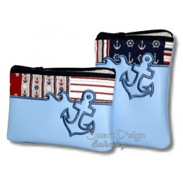 ITH 2x ANCHOR Silhouette Zipper Bag 5x7 inch