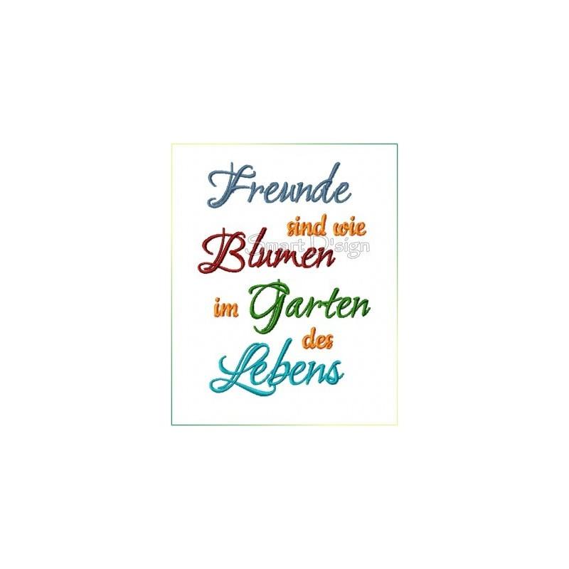 Freunde sind wie Blumen im Garden des Lebens - Saying 5x7 inch