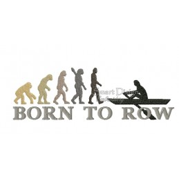 2x Born To Row 13x18 cm