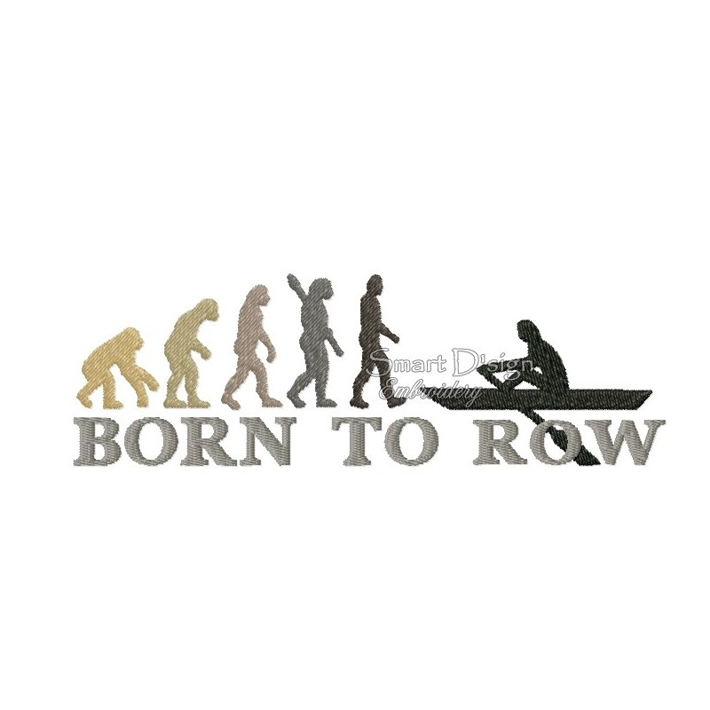 2x Born To Row 5x7 inch