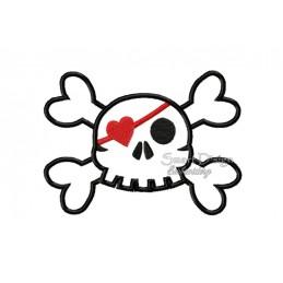 Love Skull Applikation 10x10 cm