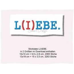 L(I)EBE - Set 2 Größen - Spruch  10x10 und 13x18 cm
