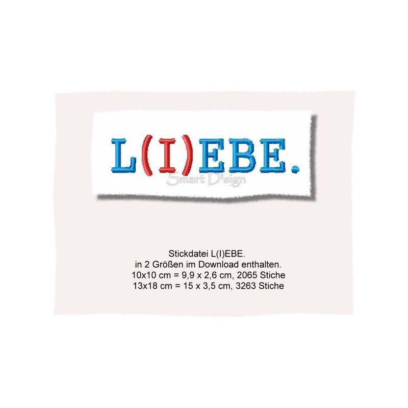 L(I)EBE - Set Saying 4x4 and 5x7 inch