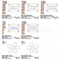 5x ITH MugRug Door Signs 5x7 + 2 Flower Appliques Crayon Coloring Designs