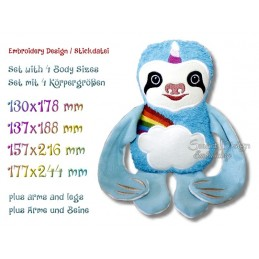 ITH SLOTH Rainbow Unicorn 4 sizes