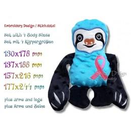 ITH SLOTH Cancer Awareness Ribbon 4 sizes