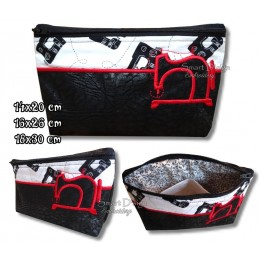 ITH SEWING MACHINE Silhouette Bag w. Inside Pockets 3 Sizes