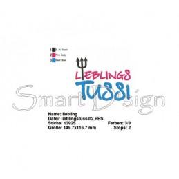 LIEBLINGS TUSSI - Saying 5x7 inch