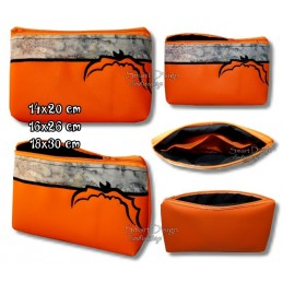 ITH HALLOWEEN BAT Silhouette Bag w. Inside Pockets 3 Sizes