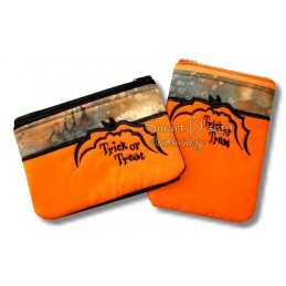 ITH 2x HALLOWEEN BAT Trick Or Treat Silhouette Bags 5x7 inch