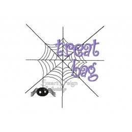 Spinnennetz Halloween Füllstich 12x12 cm