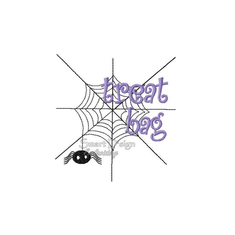 Spider Web Halloween Motif 4.75x4.75 inch