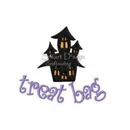 Haunted House Halloween Motif 4.75x4.75 inch