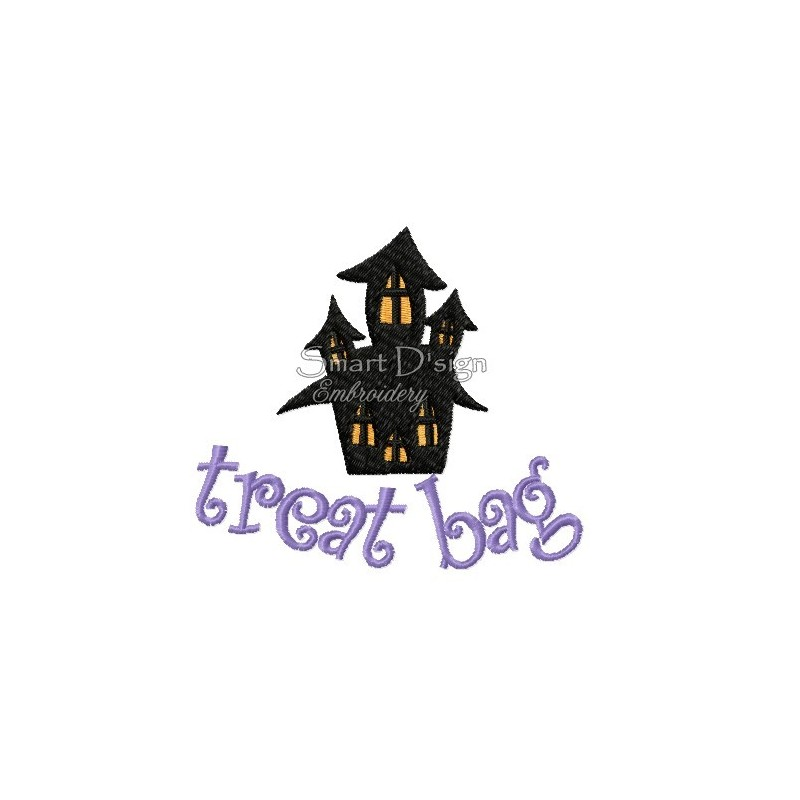 Haunted House Halloween Motif 4.75x4.75 inch
