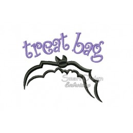 Bat Flying Fox Halloween Motif 4.75x4.75 inch