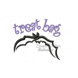 Bat Flying Fox Halloween Motif 4.75x4.75 inch
