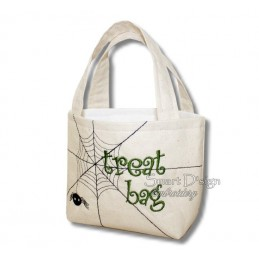 Spider Web ITH Halloween Treat Bag Set 4 Sizes