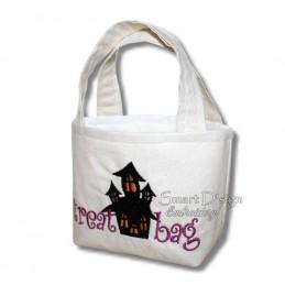 Haunted House ITH Halloween Treat Bag Set 4 Sizes