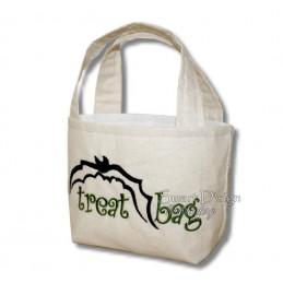 Bat Flying Fox ITH Halloween Treat Bag Set 4 Sizes