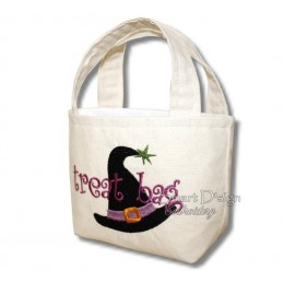 Witch Hat ITH Halloween Treat Bag Set 4 Sizes