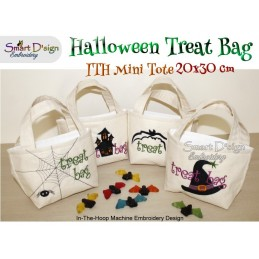 4x ITH Halloween Tote Treat Bags 8x12 inch