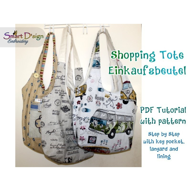 Ebook Reversible Shopping Tote Sewing Tutorial