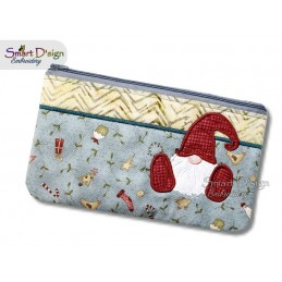 ITH Christmas Gnome 7x12 inch Zipper Bag