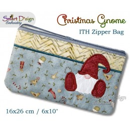 ITH Christmas Gnome 6x10 inch Zipper Bag