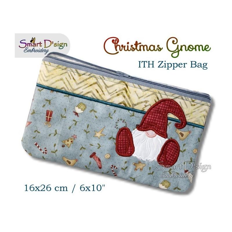 ITH Christmas Gnome 6x10 inch Zipper Bag