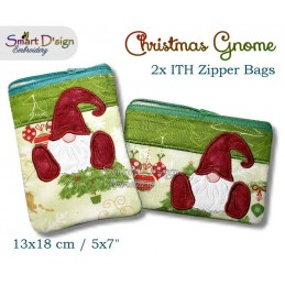 ITH Christmas Gnome 5x7 inch Zipper Bag