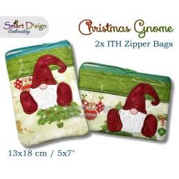 ITH 2x Weihnachtszwerg RV Taschen 13x18 cm