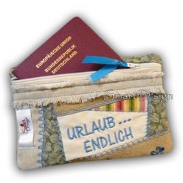 "ITH Zipper Bag Crazy Patchwork ""Endlich Urlaub"" 5x7 inch"
