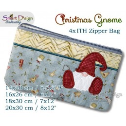 ITH Christmas Gnome Zipper Bag