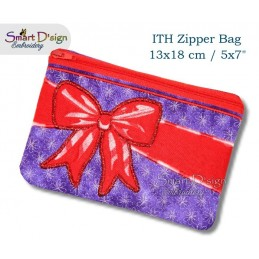 ITH Celebration Bow Applique 5x7 inch Zipper Bag