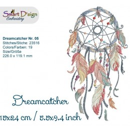 Dream Catcher Nr. 5 - 5.5x9.4""