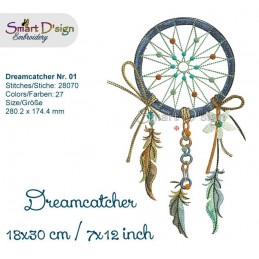 Dream Catcher Nr. 1 - 7x12""