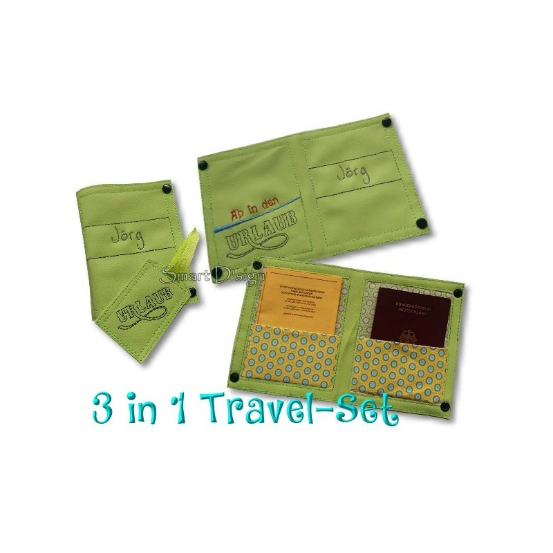 Travel Set 1 - Passport Cover & Luggage Tags 6x10 inch